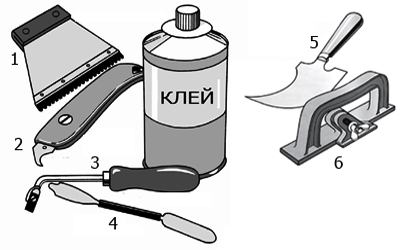 инструмент  для укладки каучуковых напольных покрытий