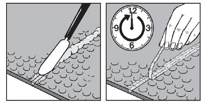 Как укладывать резиновое покрытие для пола -герметизация шва массой