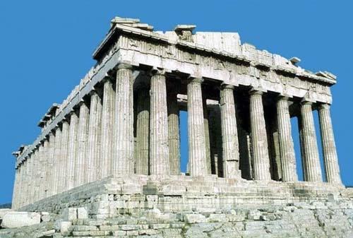 Пропорциональность на примере Парфенона в Афинах  Vв.до н.э.