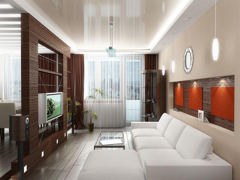 Зонирование потолка